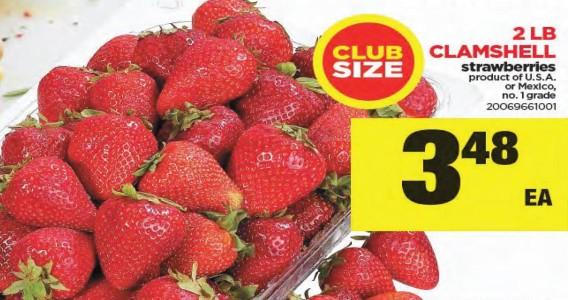 Club Size 2 Lb Clamshell Strawberries