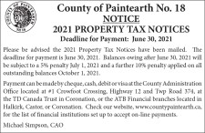 2021 PROPERTY TAX NOTICES