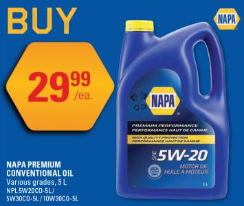 Napa Premium Conventional Oil