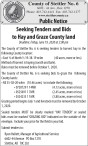 Seeking Tenders and Bids to Hay and Graze County land
