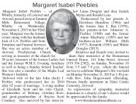 Margaret Isabel Peebles