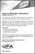 Career Opportunity: Agency Manager, Petroleum