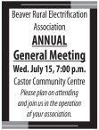 Beaver Rural Electrification Association ANNUAL General Meeting