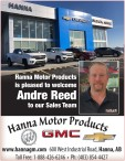 Hanna Motor Products is pleased to welcome Andre Reed to our Sales Team