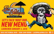 LET'S TACO 'BOUT Las Palapas NEW MENU