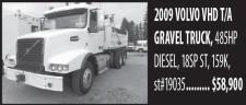 2009 VOLVO VHD T/A GRAVEL TRUCK