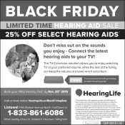 Black Friday Limited Time hearing aid sale