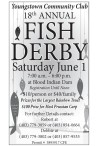 Youngstown Community Club 18th ANNUAL FISH DERBY