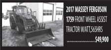 2017 MASSEY FERGUSON 1759 FRONT WHEEL ASSIST TRACTOR