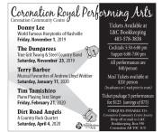 Coronation Royal Performing Arts Upcoming Events
