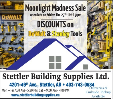 Stettler Building Supplies Moonlight Madness Sale