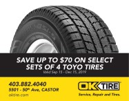 SAVE UP TO $70 ON SELECT SETS OF 4 TOYO TIRES at OK Tire