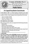 Public Notice: 2% Liquid Strychnine Concentrate