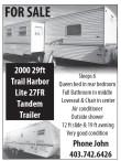 2000 29ft Trail Harbor Lite 27FR Tandem Trailer FOR SALE