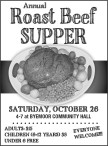 Annual Roast Beef SUPPER