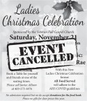 Ladies Christmas Celebration EVENT CANCELLED